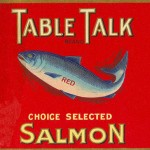 Vintage Salmon Label