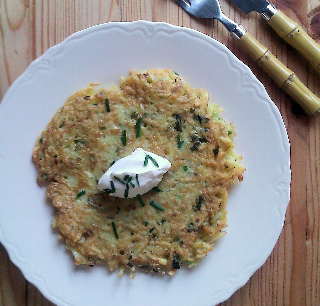 Shredded Potato Pancake for One